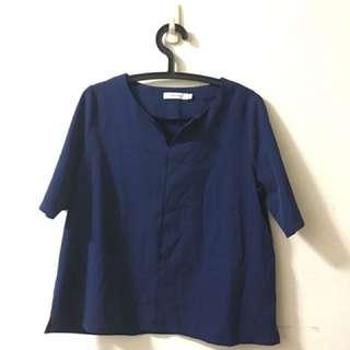 🚚 藍西裝布上衣