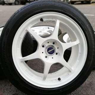 P1 buddy club 16 inch sports rim swift tyre 70%. Kalau pakai baju tuck-in, tak de hal bro kita bincang harga trade-in!!!