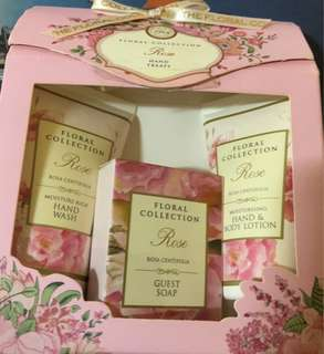 Flora collection: hand wash, soap, lotion
