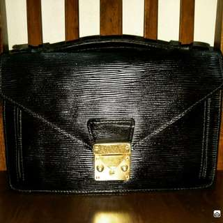 Clutch Bag Epi Leather Unbrand