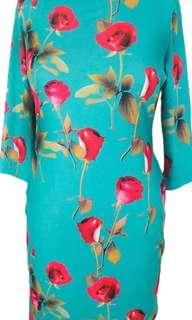 Stretchable midi dress, uk size 16-18