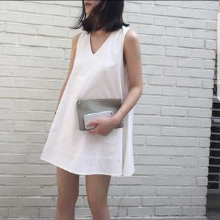 White Basic Shift Dress