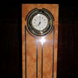 Italy marble table clock