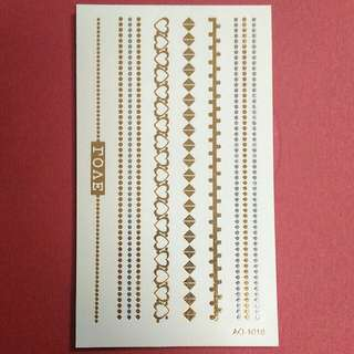 Gold and Silver Bracelet Temporary Tattoo