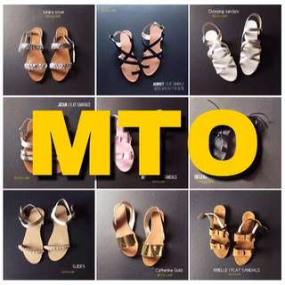 all sandals are made to order