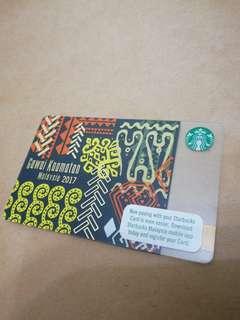 Gawai Kaamatan Malaysia Starbucks Card