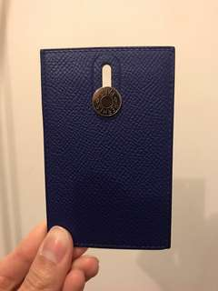 Hermes Paris France card holder navy 卡片 套