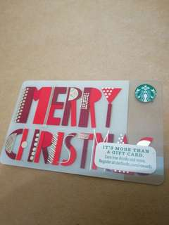 Merry Christmas Starbucks Card