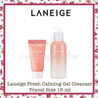 Laneige Fresh Calming Gel Cleanser Travel Size