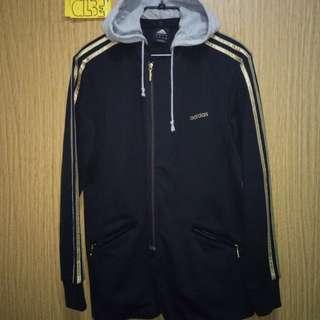 Adidas Gold Stripes Track Jacket w/ Removable Hood