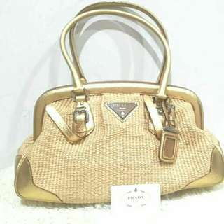 Authentic PRada Limited Edition Gold Doctors Bag🌷👝👜