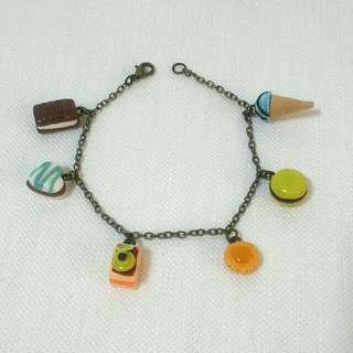 Handmade Clay Food Bracelet