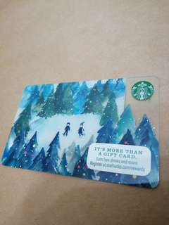Snow Ski Starbucks Card