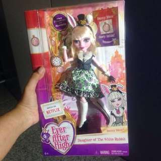 Ever after high barbie doll boneka daughter of the white rabbit bunny blanc rare monster mattel ori original authenthic