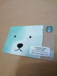 Polar Bear Starbucks Card