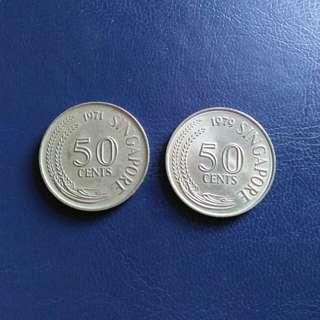 50Cents Singapore 1971/79