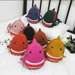 Baby Shark Suede Backpack