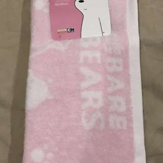 Miniso face towel we are bear pink