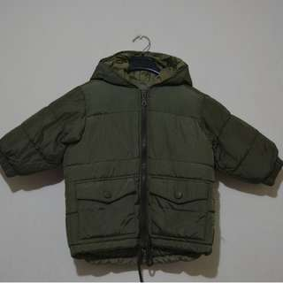 Navy green bubble jacket - kids