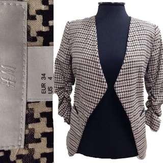 New:H&M brown & black blazer