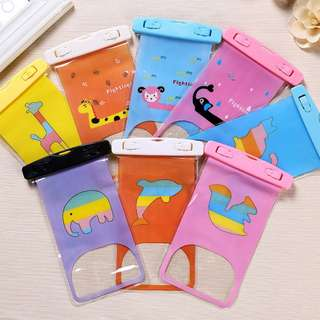 Animal Clear Cartoon Waterproof Case Phone