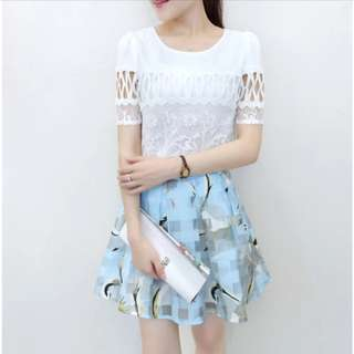PO: 👗Dainty Tifanny Two Piece Set Blouse and Skirt