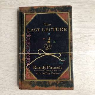 [Large Print] The Last Lecture - Randy Pausch. Preloved