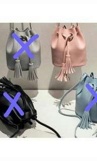 BN Pink Tassel Bucket Bag