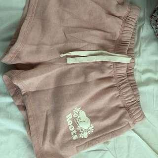 Roots fleece shorts
