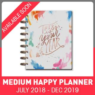 2018 - 2019 Classic Happy Planner - Brushy Brights
