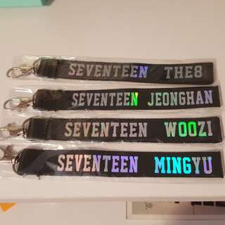 SEVENTEEN holographic keychains kpop