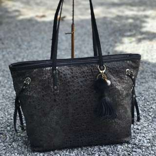 DKNY Leather Tote Bag