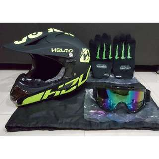 Full Face Helmet - Helmo Matte Lime Green
