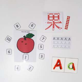 Letter A learning activity
