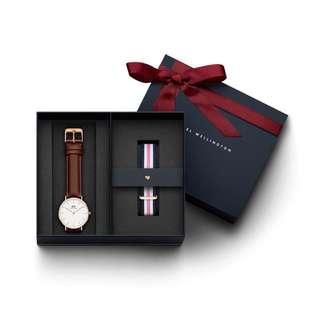 (全新) 正貨DW 錶+錶帶gift set