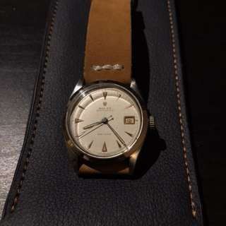 Rolex 6294 34mm 懷舊鐘錶 紅色日曆 全原裝冇返寫 代用扣 手上鏈機芯