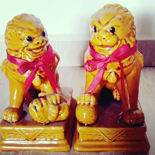 Auspicious pair of lion