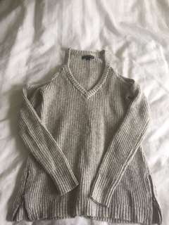 American Eagle Cold Shoulder Knit Sweater