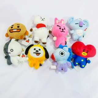 [Readystock] BT21 Bag Charm Doll Non-official