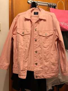 [清衣櫃]Spao 粉紅色 牛仔褸