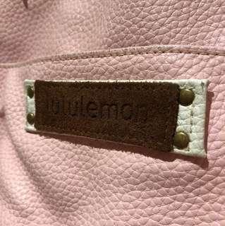 Beautiful pink/white lululemon leather bag