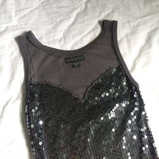 Sequins Dark Grey Glam Dress
