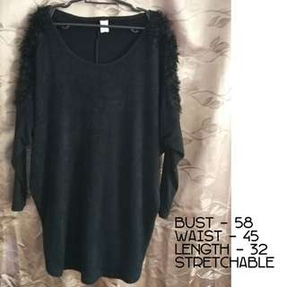 Black Long sleeve Top - Can fit up to XXXL