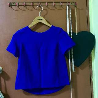 Electric blue cropped blouse