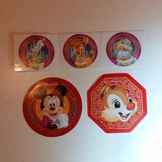 Dale大鼻/Minney米妮/美妮/Bambi小鹿斑比/Lumiere盧米亞/Thumper桑普/Disney/Disneyland/迪士尼貼紙
