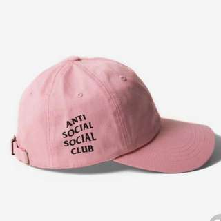 Anti social social club cap hat pink