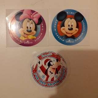 Minnie米妮/美妮/Mickey米奇/高飛Goofy/Disney/Disneyland/迪士尼貼紙
