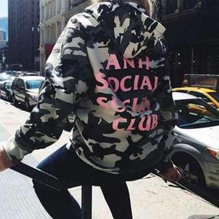 Anti social social club hoodie 迷彩
