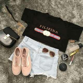 Filipina Shirt Crop Top