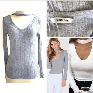 Osmose Ribbed Chocked Neck Top